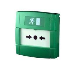 Groene nood drukknop (met sleutel) ontgrendelapparaat
